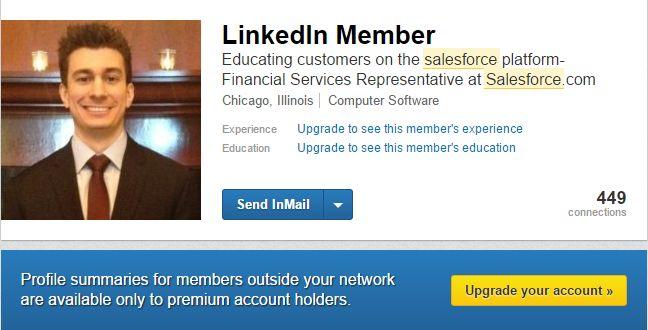 Omezené zobrazení profilu pro lidi, kteří nejsou ve vaší síti
