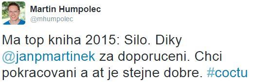 Tweet o knize Silo