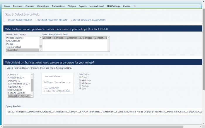 Definice součtů pomocí Rollup Helper