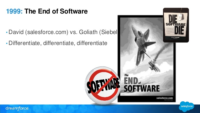 The end of software ad, Salesforce
