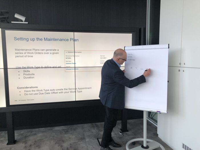 Pawel whiteboarding the solution