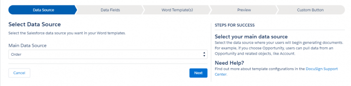 DocuSign Gen template wizard