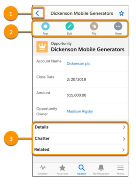 New navigation in Salesforce Mobile App