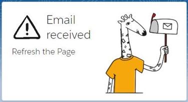 Notifikace o novém emailu
