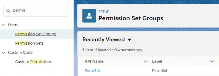 Permission Set Groups