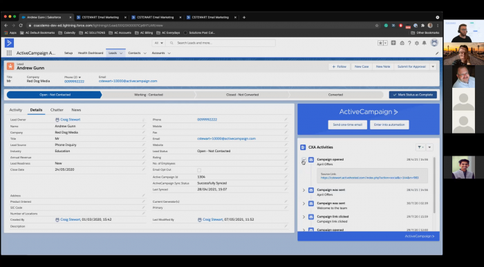 ActiveCampaign inside Salesforce