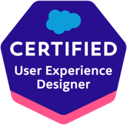 Certified User Experience Designer badge