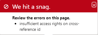 Error when saving record and not having proper rights on parent